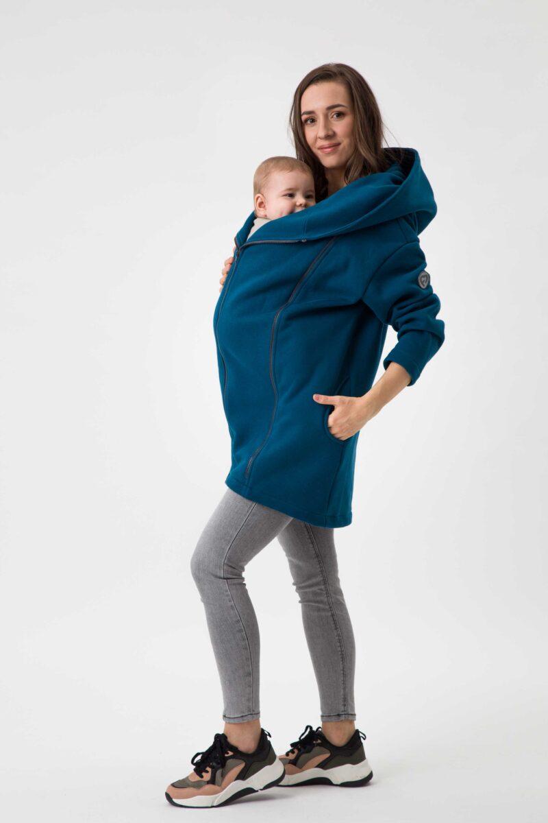 Fun2bemum babywearing coat Kaya plaszcz do noszenia dzieci petrol green zielen butelkowa 3