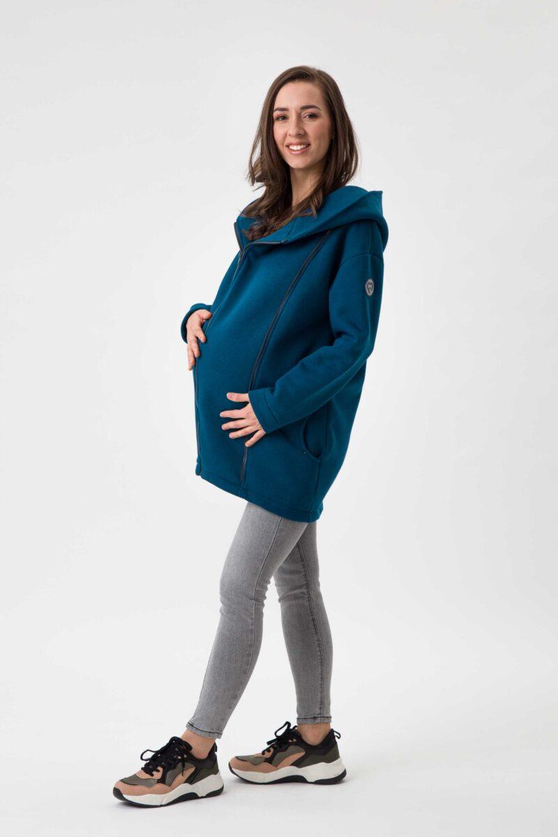 Fun2bemum babywearing coat Kaya plaszcz do noszenia dzieci petrol green zielen butelkowa 4