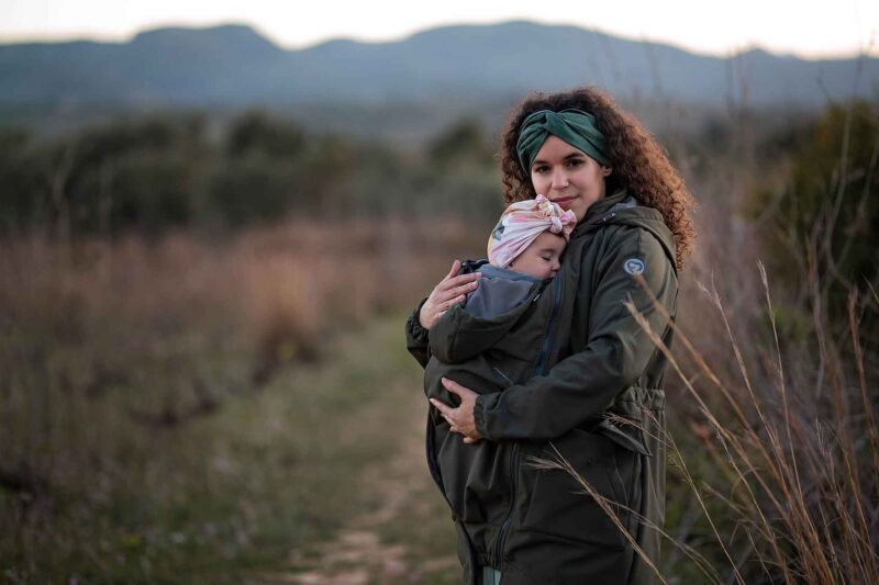 Fun2bemum babywearing parka softshell coat jacket maternity kurtka plaszcz khaki-5