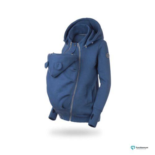 Fun2bemum babywearing sweatshirt Pola maternity bluza do noszenia ciazowa jeans blue niebieski 7