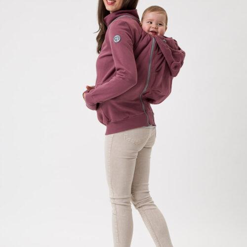Fun2bemum babywearing sweatshirt Pola maternity bluza do noszenia ciazowa brazowy roz rose brown 5