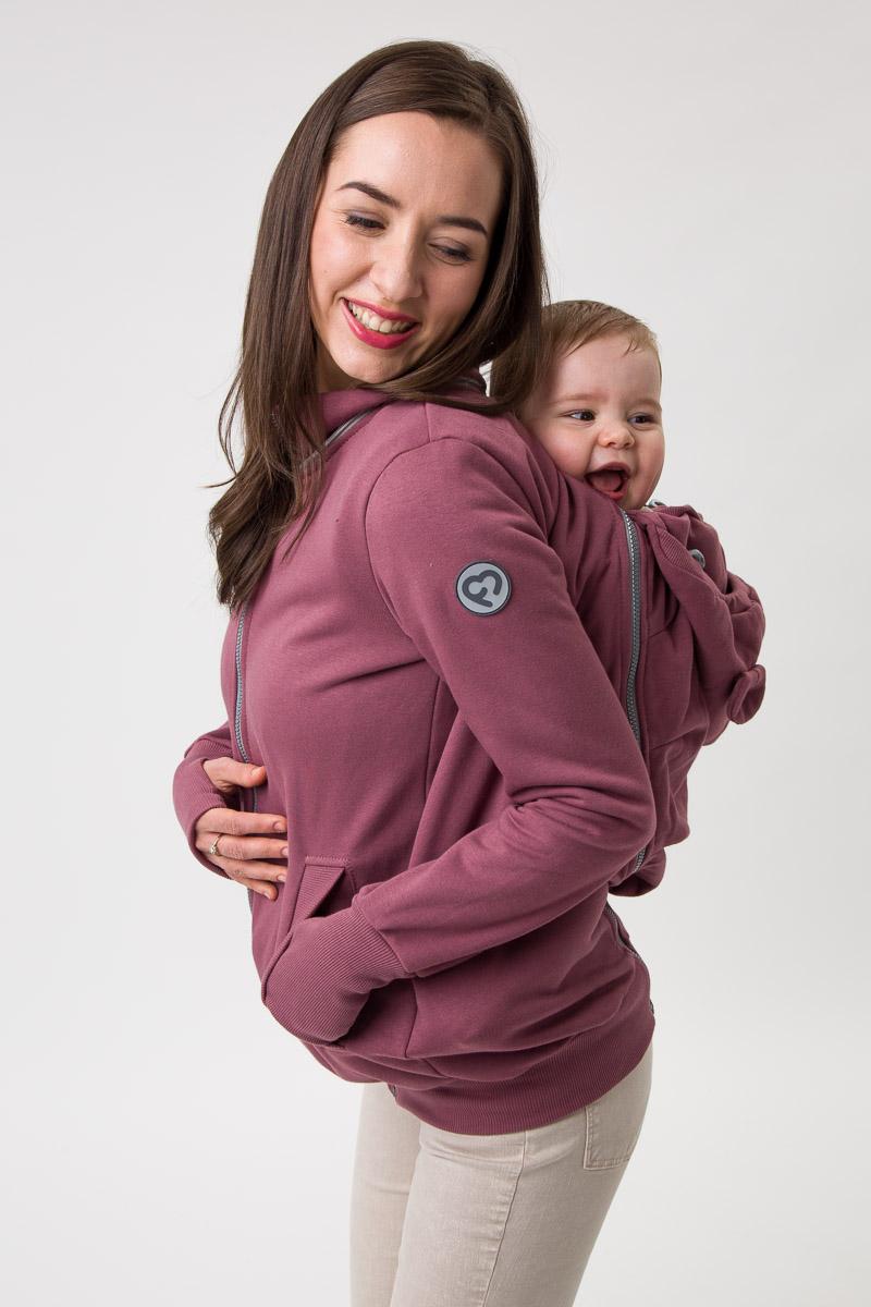 Fun2bemum babywearing sweatshirt Pola maternity bluza do noszenia ciazowa brazowy roz rose brown 6