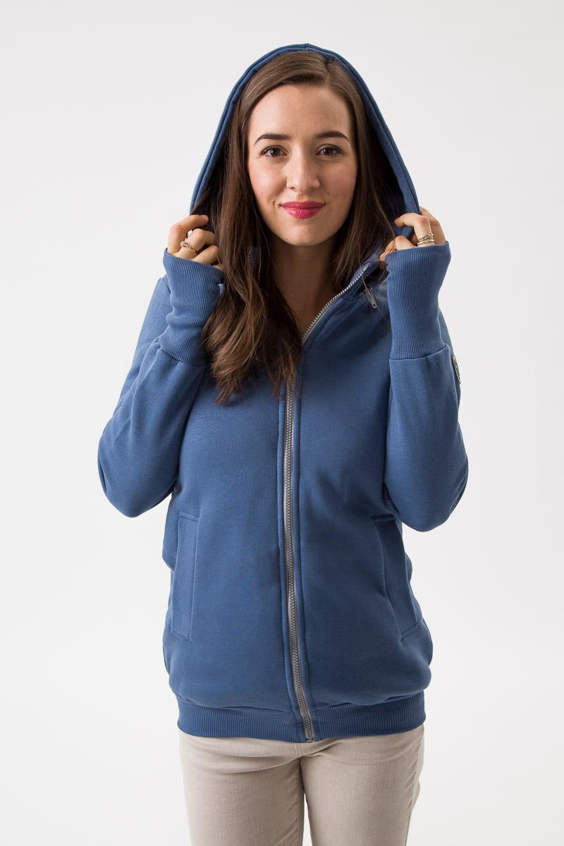 Fun2bemum babywearing sweatshirt Pola maternity bluza do noszenia ciazowa jeans blue niebieski 1