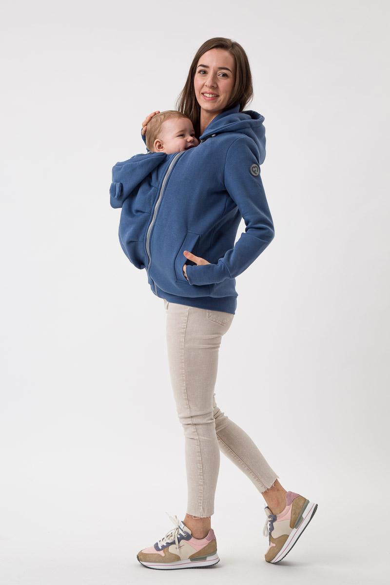 Fun2bemum babywearing sweatshirt Pola maternity bluza do noszenia ciazowa jeans blue niebieski 2