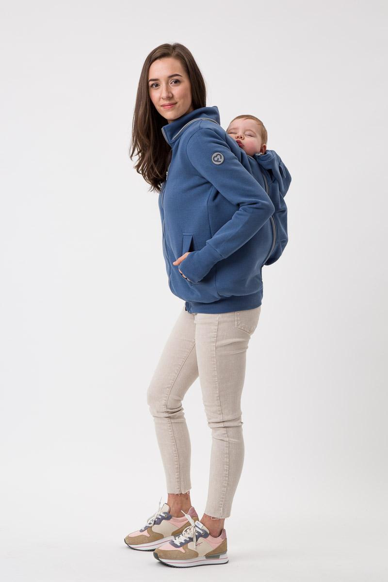 Fun2bemum babywearing sweatshirt Pola maternity bluza do noszenia ciazowa jeans blue niebieski 3