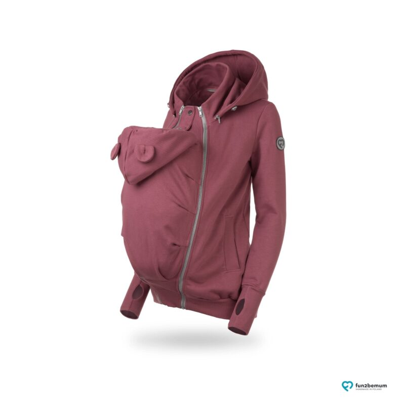 Fun2bemum babywearing sweatshirt Pola maternity bluza do noszenia ciazowa rose brown