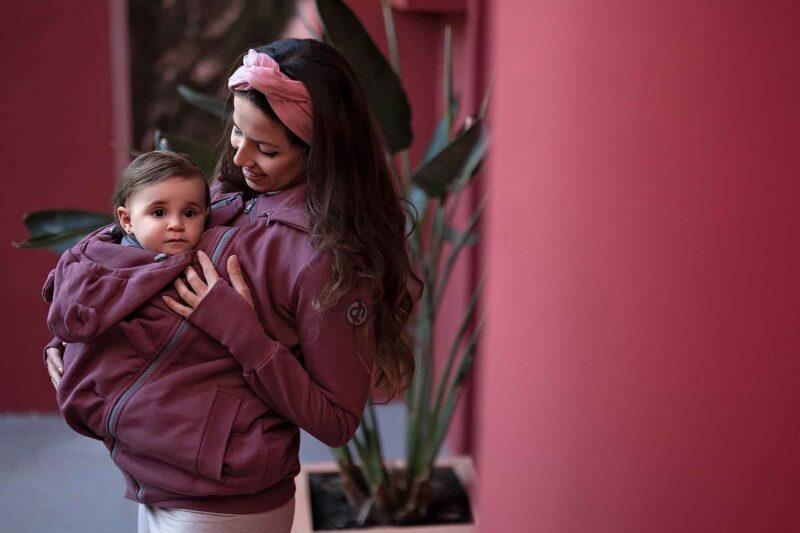 Fun2bemum babywearing sweatshirt Pola rose brown bluza do noszenia dzieci