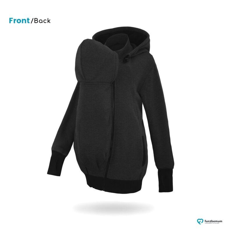 Fun2bemum babywearing sweatshirt for dad black bluza do noszenia czarny