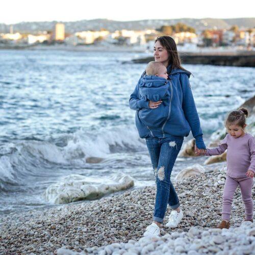 Fun2bemum babywearing sweatshirt Pola maternity bluza do noszenia ciazowa jeans blue niebieski 0