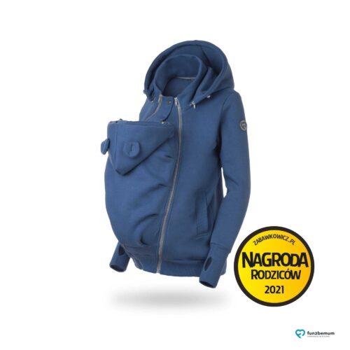 Fun2bemum bluza ciazowa do noszenia dziecka babywearing sweatshirt  jeans blue niebieski