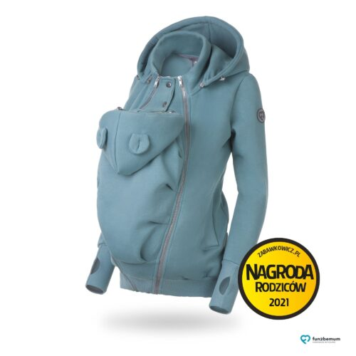 Fun2bemum bluza ciazowa do noszenia dziecka babywearing sweatshirt dust mint mięta
