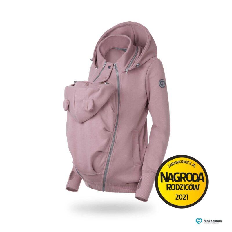 Fun2bemum bluza ciazowa do noszenia dziecka babywearing sweatshirt dirty pink brudny róż