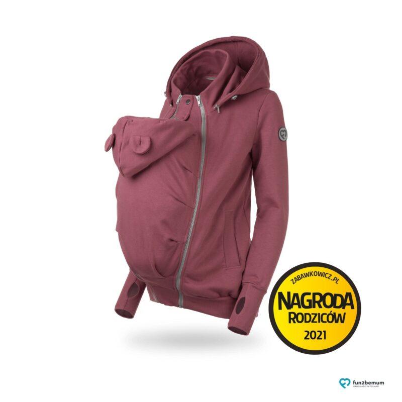 Fun2bemum bluza ciazowa do noszenia dziecka babywearing sweatshirt rose brown