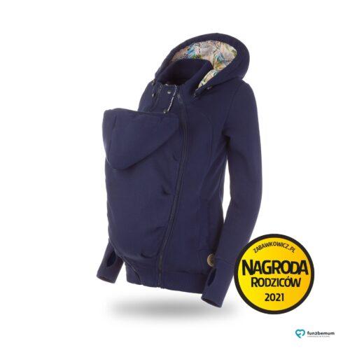 Fun2bemum bluza ciazowa do noszenia dziecka babywearing sweatshirt navy granat
