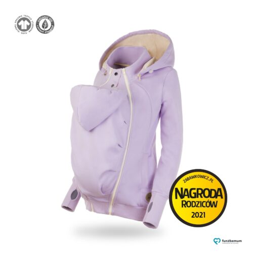Fun2bemum bluza ciazowa do noszenia dziecka babywearing sweatshirt fioletowy purple