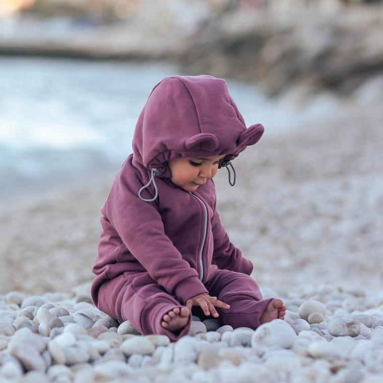 Fun2bemum cotton overall rose brown pebble beach