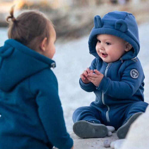 Fun2bemum cotton overall teddy kombinezon bawelniany jeans blue niebieski