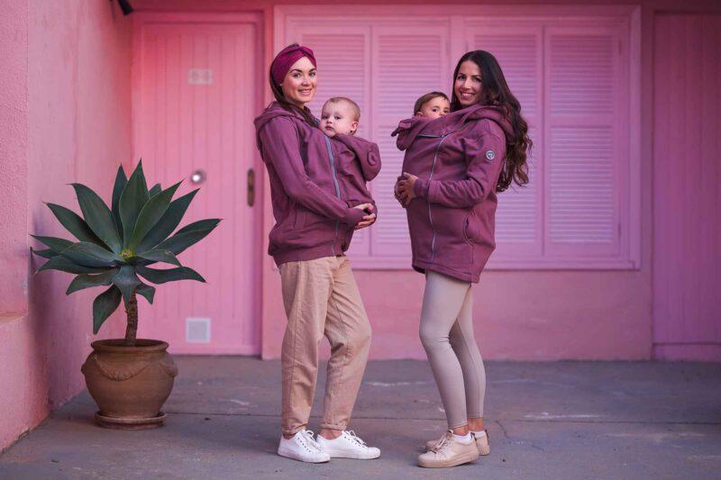 Fun2bemum babywearing coat kaya rose brown maternity plaszcz ciazowy do noszenia dzieci