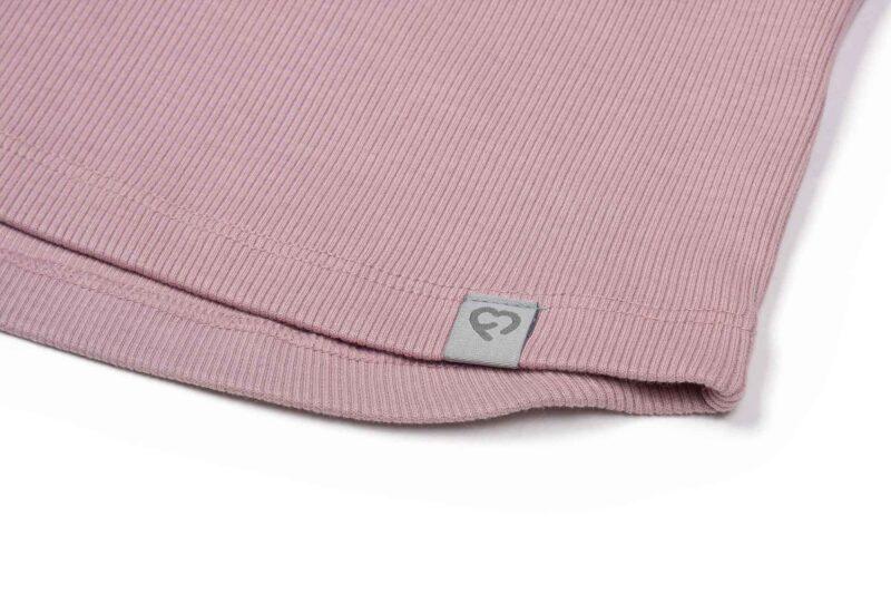 Fun2bemum dres dzieciecy dla dzieci prazkowany babywearing cotton overall for kids dirty pink
