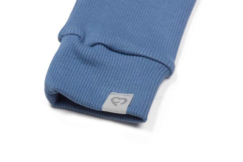 Fun2bemum dres dzieciecy dla dzieci prazkowany babywearing cotton overall for kids jeans blue niebieski 4