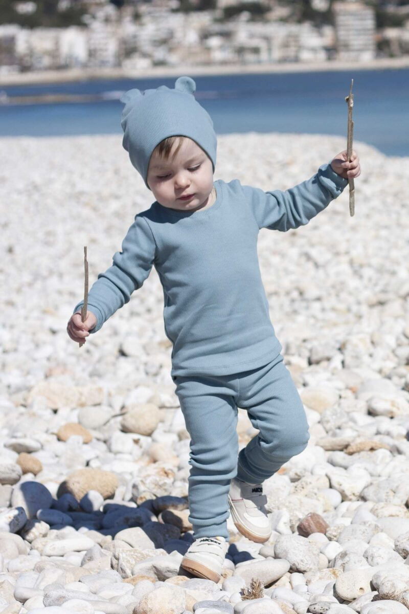 Fun2bemum dres dzieciecy dla dzieci prazkowany babywearing cotton overall for kids lifestyle 10
