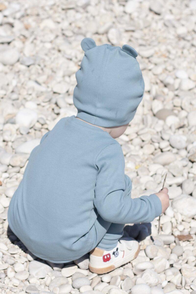 Fun2bemum dres dzieciecy dla dzieci prazkowany babywearing cotton overall for kids lifestyle 12
