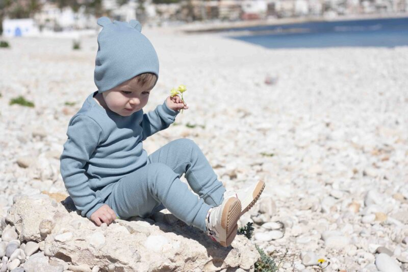 Fun2bemum dres dzieciecy dla dzieci prazkowany babywearing cotton overall for kids lifestyle 14