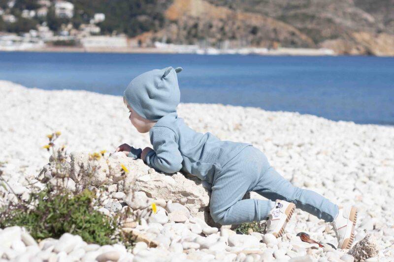 Fun2bemum dres dzieciecy dla dzieci prazkowany babywearing cotton overall for kids lifestyle 16