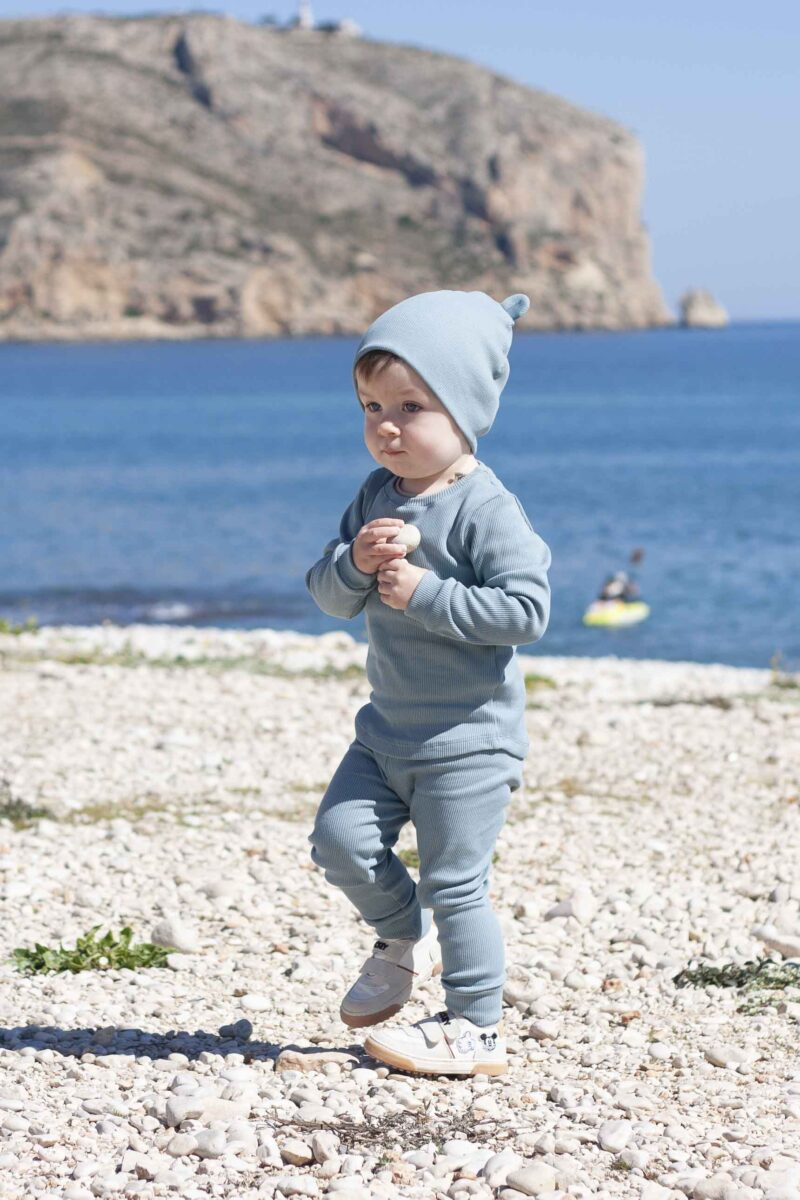 Fun2bemum dres dzieciecy dla dzieci prazkowany babywearing cotton overall for kids lifestyle 19