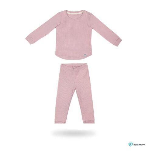 Fun2bemum dres dzieciecy dla dzieci prazkowany babywearing cotton overall for kids main