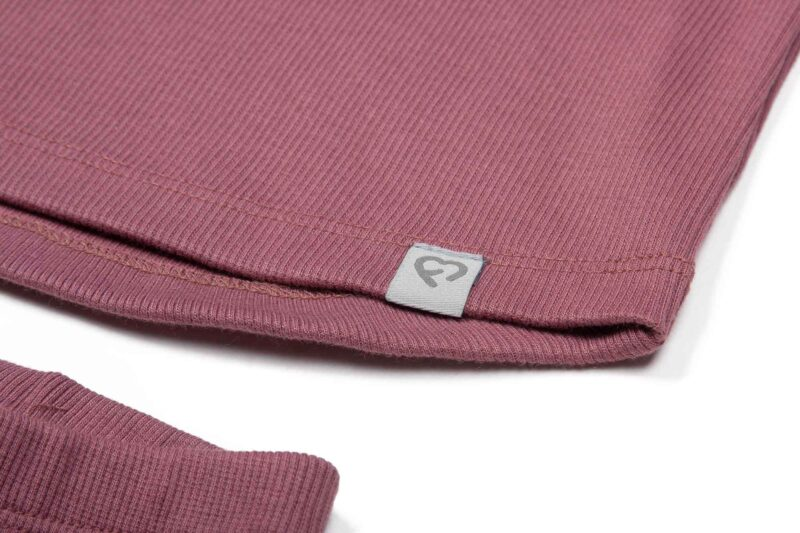 Fun2bemum dres dzieciecy dla dzieci prazkowany babywearing cotton overall for kids rose brown 3