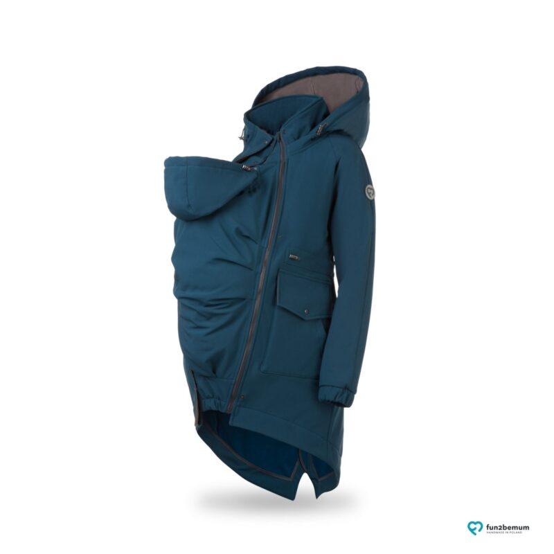 Fun2bemum parka babywearing softshell jacket kurtka do noszenia ciazowa maternity petrol butelkowa zielen