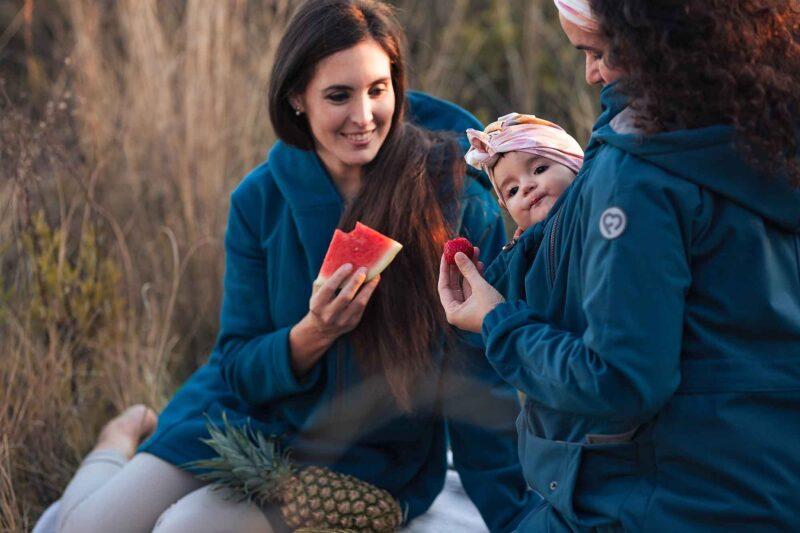 Fun2bemum parka coat petrol maternity softshell kurtka do noszenia dzieci 1