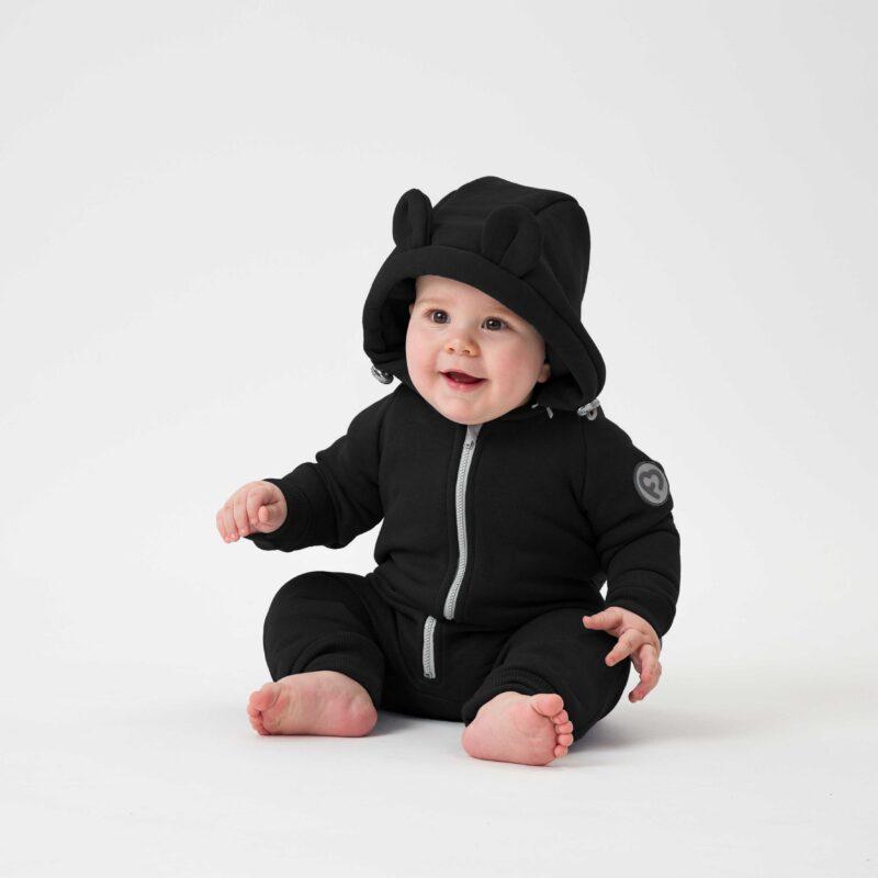Fun2bemum babywearing cotton overall kombinezon bawelniany czarny black