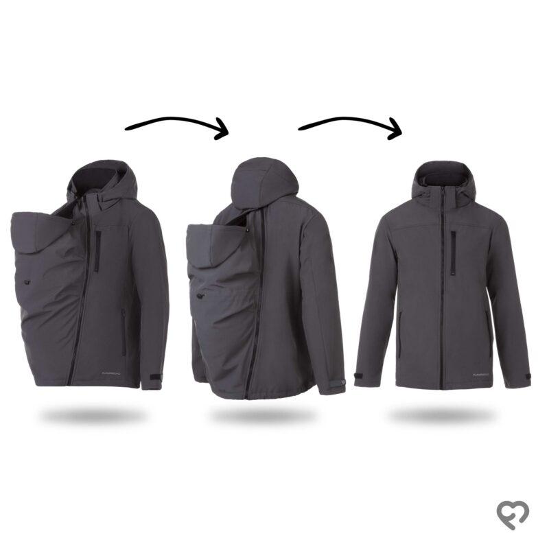 Fun2bemum babywearing jacket for dads Elbrus kurtka do noszenia dzieci dla taty opcje
