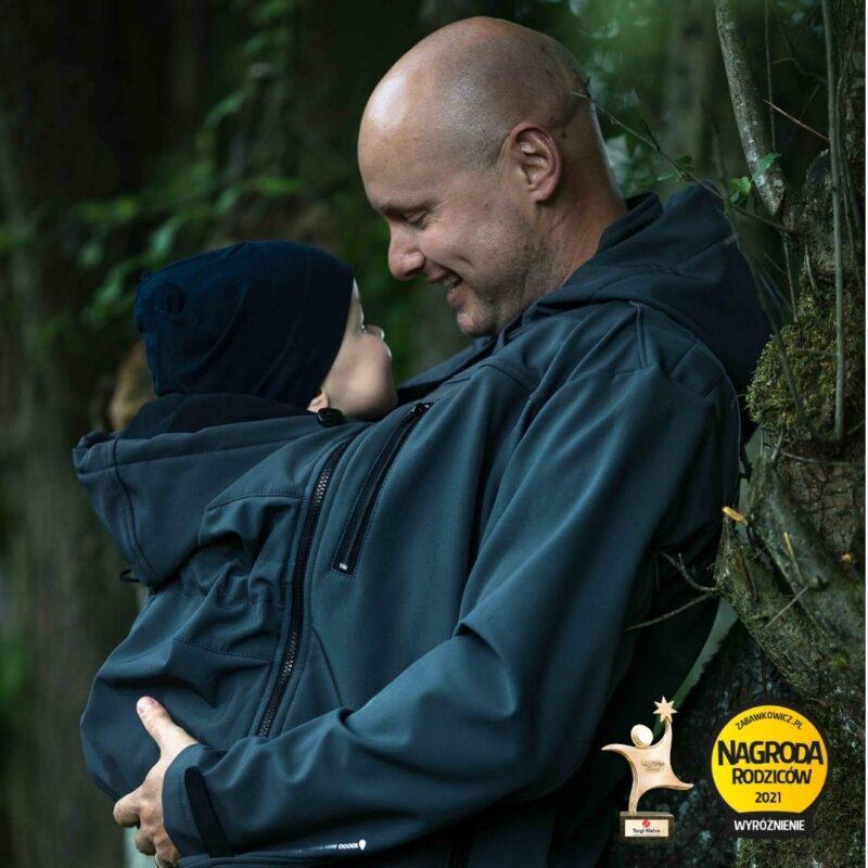Fun2bemum babywearing softshell jacket for dad Elbrus kurtka do noszenia dzieci dla taty 1