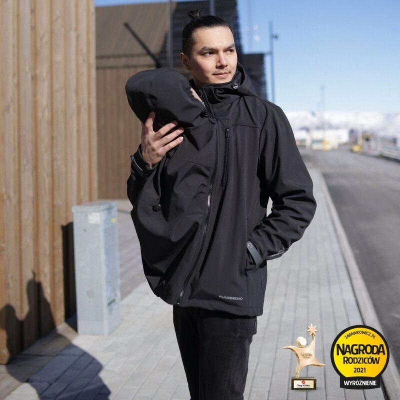Fun2bemum babywearing softshell jacket for dad Elbrus kurtka do noszenia dzieci dla taty 2