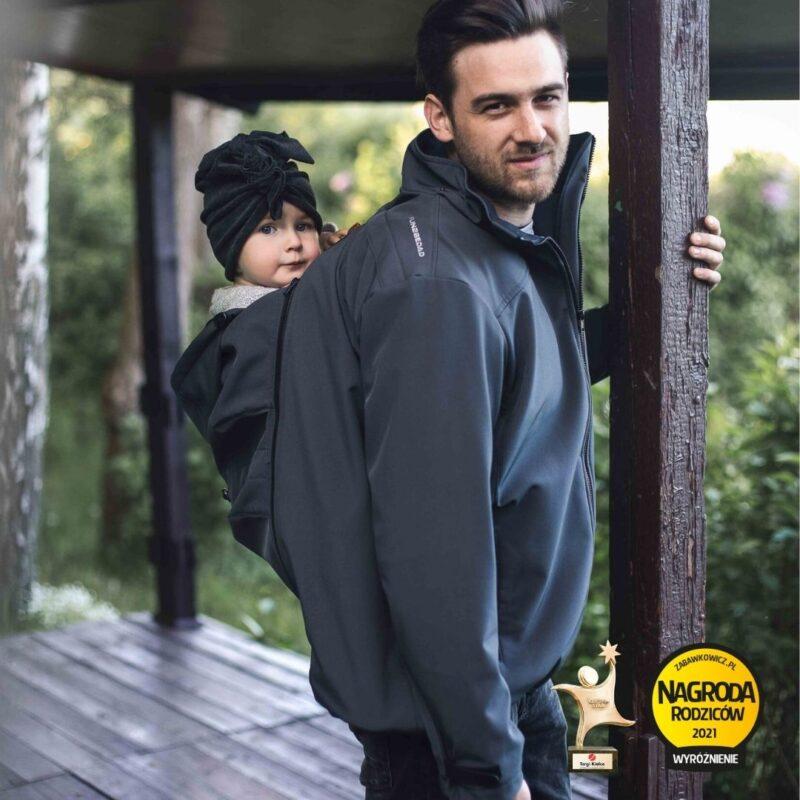 Fun2bemum babywearing softshell jacket for dad Elbrus kurtka do noszenia dzieci dla taty 4