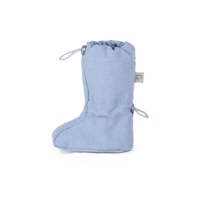 fun2bemum softshell boots for baby dust blue melange