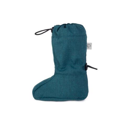 fun2bemum_softshell boots for baby petrol green melange
