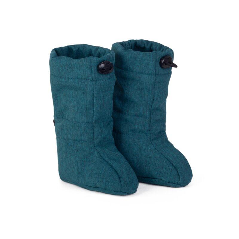 fun2bemum_softshell boots for baby petrol green melange II