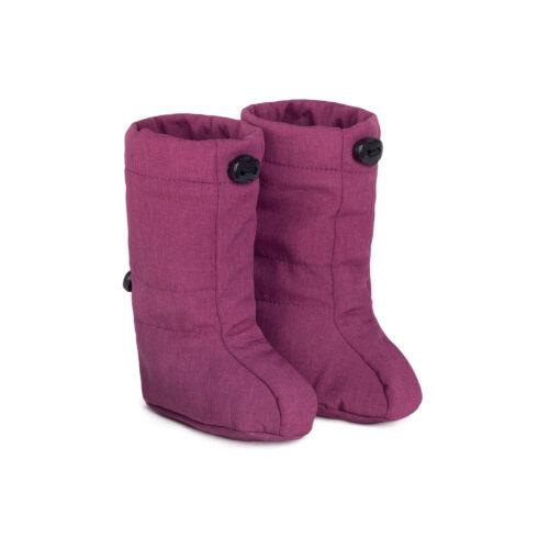 fun2bemum softshell boots for baby plum melange III