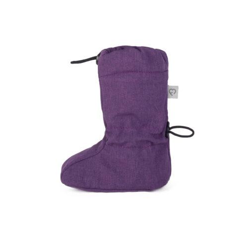 fun2bemum softshell boots for baby purple melange