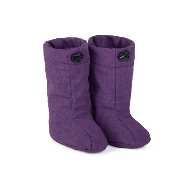 fun2bemum softshell boots for baby purple melange III